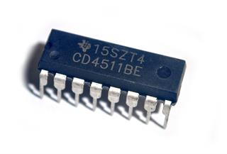 Circuito Integrado decodificador BCD para display de 7 segmentos CD4511BE