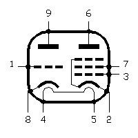 Base da válvula ECL82